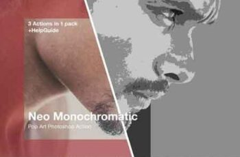 Monochromatic Pop Art Photoshop action 3521957