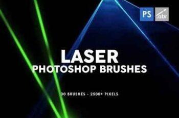 30 Laser Photoshop Stamp Brushes 3