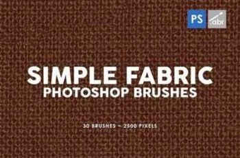 30 Simple Fabric Photoshop Stamp Brushes 5