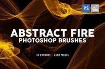 45 Abstract Fire Photoshop Stamp Brushes 5