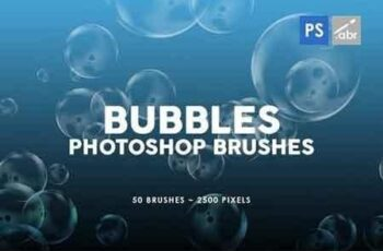 50 Bubble Photoshop Stamp Brushes 2