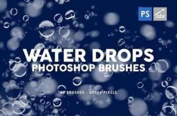 50 Water Drops Photoshop Stamp Brushes 4