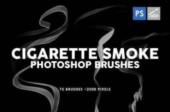 75 Cigarette Smoke Photoshop Stamp Brushes 4
