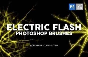 75 Electric Flash Photoshop Stamp Brushes 5