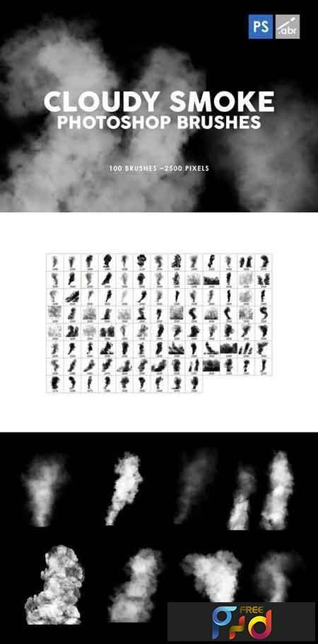 100 Cloudy Smoke Photoshop Stamp Brushes 1
