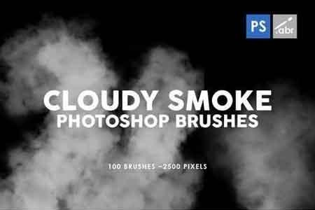 100 Cloudy Smoke Photoshop Stamp Brushes - FreePSDvn