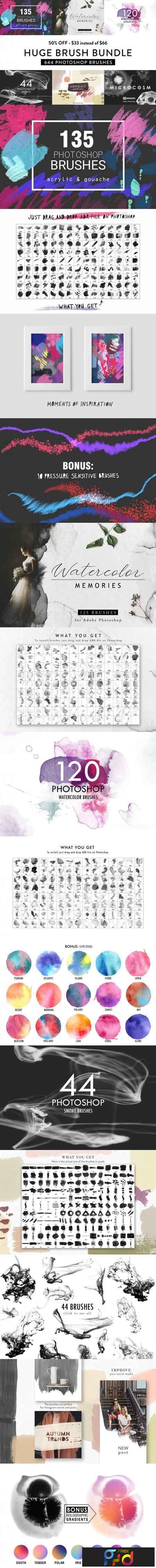 Photoshop Brush Bundle 3509672 1