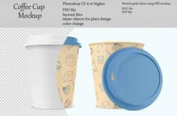 Coffee cup mockup Product place PSD object mockup 3511111 6