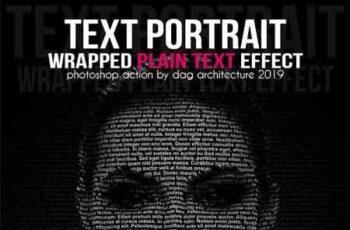 Text Portrait Action - Plain Text Style 23114539 9