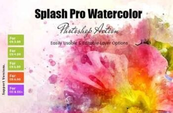 Splash Pro Watercolor Action 23087888 2