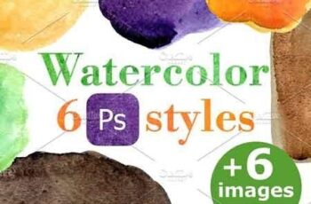 Watercolor PC style for text, object 3210186 2