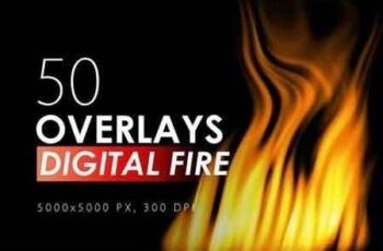 50 Digital Fire Overlays 9