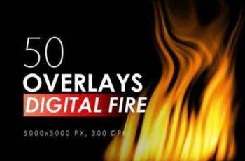 50 Digital Fire Overlays 5