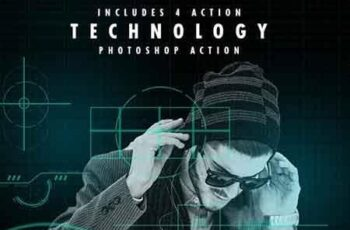 Technology Serie Photoshop Actions 23089166