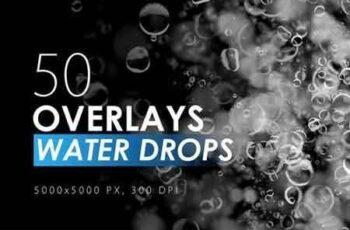 50 Water Drops Overlays 3