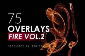 75 Abstract Fire Overlays Vol 2 7