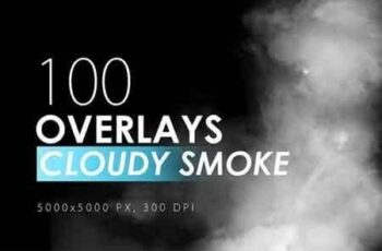 100 Cloudy Smoke Overlays 6
