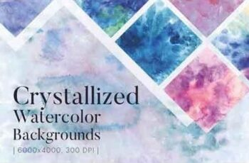 Crystallized Watercolor Backgrounds 3203319 3