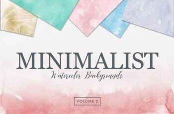 Minimalist Watercolor Backgrounds Vol 2 2