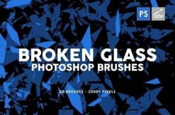 30 Broken Glass Photoshop Stamp Brushes Vol 1 4