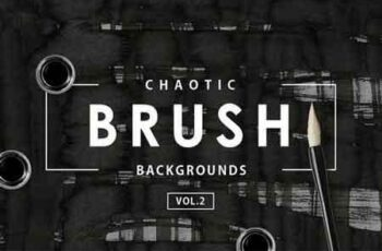 Chaotic Brush Backgrounds Vol 2 3
