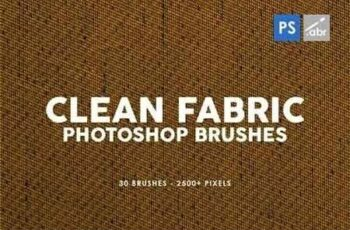 30 Clean Fabric Photoshop Stamp Brushes 6