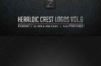 Heraldic Crest Logos Vol.6 10256199 3
