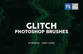 30 Glitch Photoshop Stamp Brushes 4