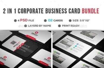 2 in 1 Business Card Bundle 22865394 3