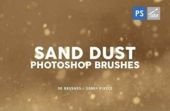 30 Sand Dust Photoshop Stamp Brushes 5