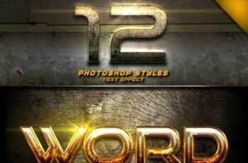 12 Photoshop text Effect Vol 2 22887496