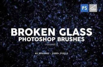 45 Broken Glass Photoshop Stamp Brushes Vol 2 2