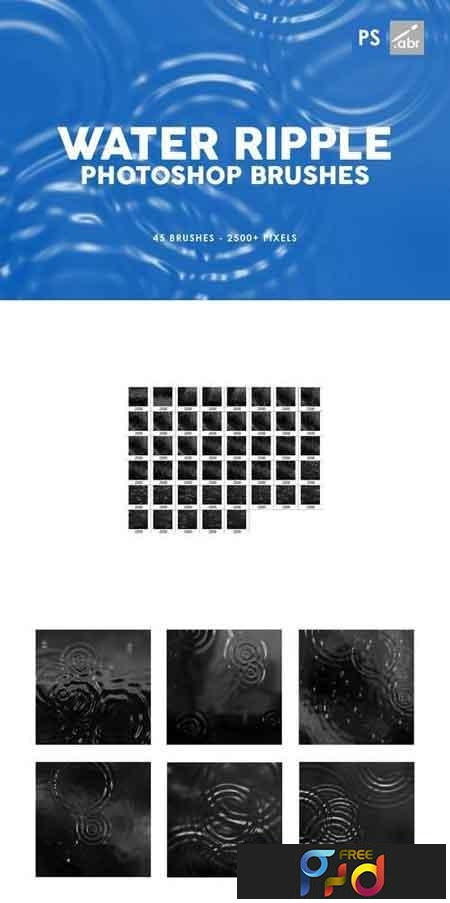 45 Water Ripple Photoshop Brushes 1