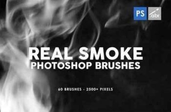 60 Real Smoke Photoshop Stamp Brushes 5