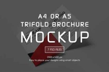 A4 or A5 Trifold Mockups 3210840 7