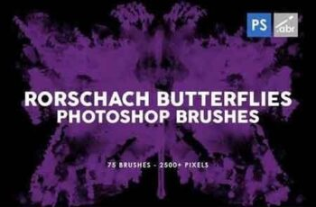 75 Rorschach Butterflies Photoshop Brushes 5