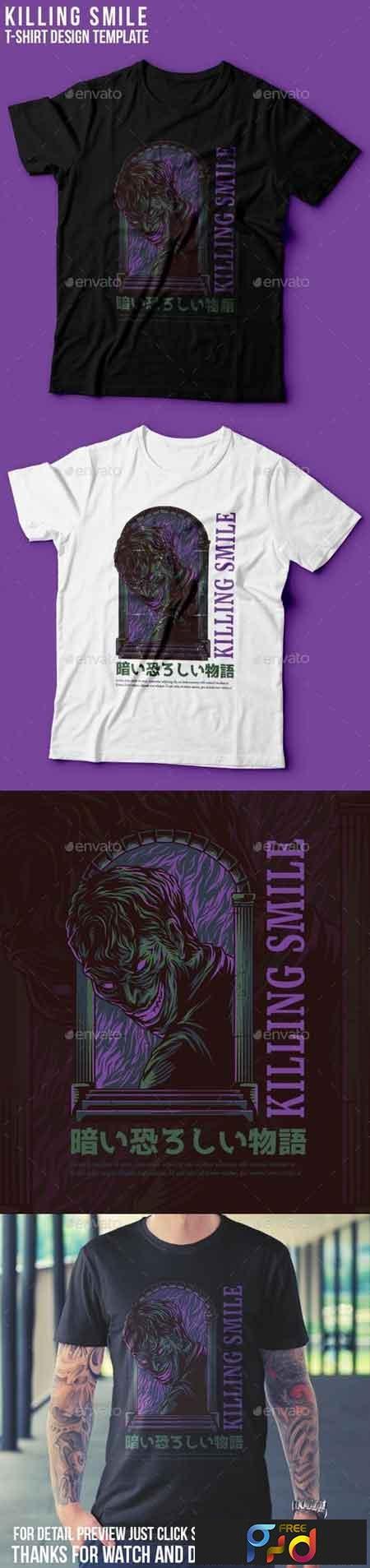 Killing Smile T-Shirt Design 22801496 1