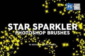 90 Star Sparkler Photoshop Stamp Brushes 4