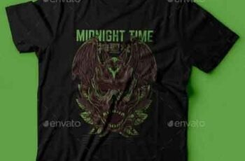 Midnight Time T-Shirt Design 22801479 4
