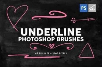 240 Dividers and Underline Photoshop Stamp Brushes 4