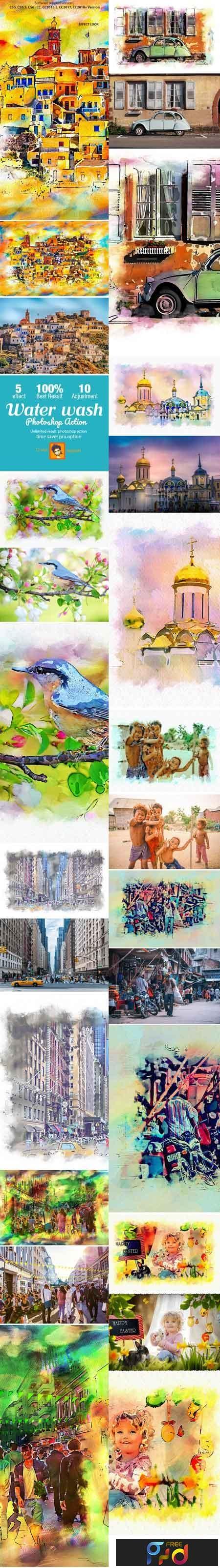 Watercolor Wash Photoshop Action 22727843 1