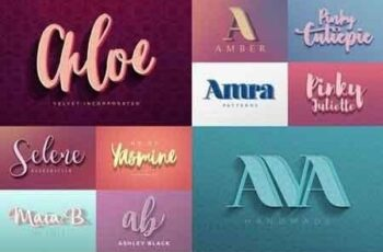Feminine Colorful Text Effects 4