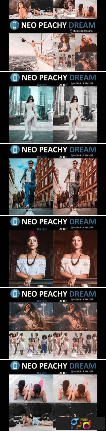 Neo Peachy Dream mobile lightroom presets 1