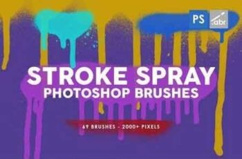 69 Stroke Spray Photoshop Stamp Brushes 8