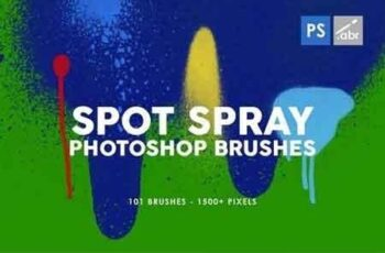 101 Spot&Blob Spray Photoshop Stamp Brushes 7