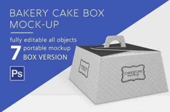 Bakery Cake Box Mockup 2898231 5