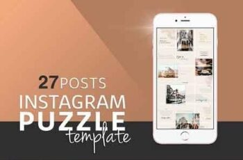 Instagram PUZZLE Template 3231074 3