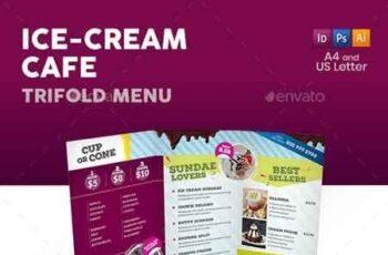 Ice Cream Cafe Trifold Menu 22877859 4