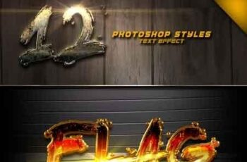 12 Photoshop text Effect Vol 3 22887547