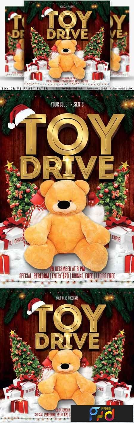 Toy Drive Party Flyer 3248281 1